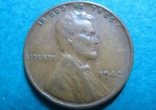 1942  Vintage LINCOLN WHEAT WAR CENT, Almost Uncirculated Philadelphia Mint