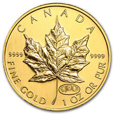 1999/2000 Canada 1 oz Gold Maple Leaf Fireworks Privy BU - SKU #82514