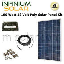 SOLAR KIT 100Watt 100 W 100W 12V Battery Charger Solar Panel PV OFF GRID RV BOAT