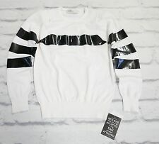 85% OFF: Toga Archives £500 Tape Motif B&W Fine Knit Sweater NWT Sz1/UK8
