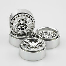 "ALIENTAC Four(4) 1.9"" Wide 1"" Alloy Beadlock Wheel Rim for 1/10 RC Model #030"