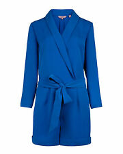 BNWT Ted Baker Ted baker Wrap Playsuit in Blue UK 1 SIZE 8 US 4 RRP £159