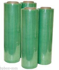 """90 GA 4 Stretch Film Rolls Cast Wrap Packaging 18"""" X 1000'"""