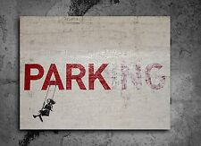 ACEO Banksy Parking Graffiti Street Art on Canvas Giclee Print