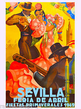 1949 Sevilla Seville Spain Europe European Vintage Travel Advertisement Poster