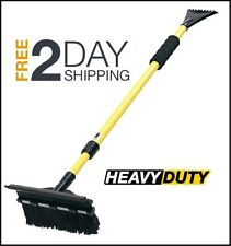 "Snow Removal Ice Scraper Extendable 52"" Telescoping Broom Car Brush Truck Clean"