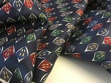 "NEW Multicolour Classic Print Panel 100% Silk Lining Fabric 40"" High Class Cloth"