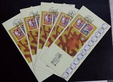 Singapore  2004 Zodiac Monkey Overprinted MS on Complete Exh Covers (HONG KONG)
