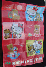 VINTAGE HELLO KITTY PICNIC MAT 1986 SANRIO MADE IN JAPAN VINYL PLASTIC RARE