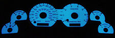 USA 1994-1995 FORD MUSTANG GT 150MPH 7K RPM BLUE / GREEN GLOW GAUGE FACE OVERLAY