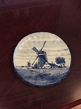 Lovely Delft Windmill Plate