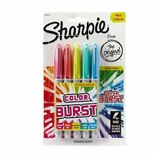 Sharpie Color Burst Permanent Markers, Fine Point, Assorted, 5-Pack (1948352)