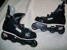 BAUER 200 ROLLER HOCKEY SKATES BLADES SIZE 10 GREAT SHAPE L@@K  OLD SCHOOL W@W