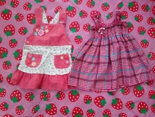 """Bundle Of 2 Dresses For Girl Approx  Size 12-24 Months Pit To Pit 10"""""""