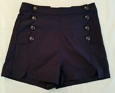 Voodoo Vixen High Waisted Nautical Pin-up Shorts Size L