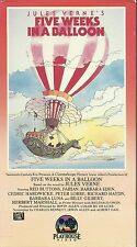 Jules Verne's Five Weeks in a Balloon (VHS) Orig. Playhouse Release! Great Cond.