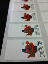 THE AMAZING SPIDERMAN 2 2014 ATM FOREVER STAMP ERROR SHEET SET - RARE