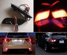 For Subaru Impreza WRX STI 08+ 2x LED Red Rear Bumper Reflector Tail Brake Light