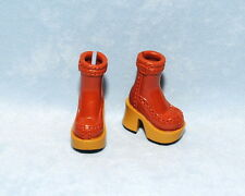 SASSY! Carmel Brown W/ Tan & Black Sole Platform Ankle Boots Shoes for BARBIE