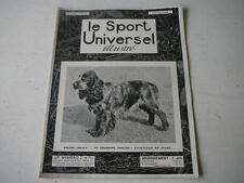 Le Sport Universel illustré 28.02.1931 Fields-trials champion anglais  n°1461