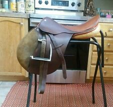 "18"" VERY SOFT LEATHER!!! Jumping English Saddle W leathers & irons ap medium"