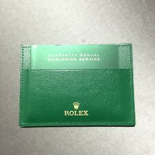 Rare Authentic Green Leather Rolex Certificate Card Holder Leather Wallet