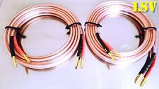 NEW Van Damme Hi-Fi Series LC-OFC 2x1.5mm Speaker Cables 2x3m -Terminated