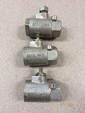 Qty 3 In 1 Lot  3/4 Inch Stainless Steel Ball Valve 2000 WOG