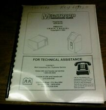 Merit MEGATOUCH TOUCHSCREEN GAMES Manual- good used