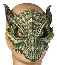 Dragon Adult Green Dinosaur Latex Half Mask
