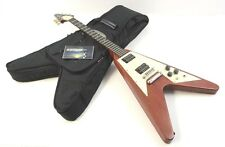 2002 Gibson Flying V Electric Guitar - Worn Cherry & Crescent Inlays w/Gig Bag