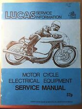 Lucas Motorcycle Electrical Equipment Service Manual
