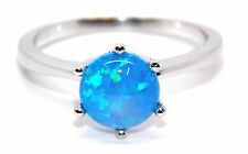 Sterling Silver Blue Fire Opal 2.3ct Ring (925)