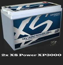 PAIR (2) XS Power XP3000 AGM CAR AUDIO 3000 AMPS Power Cell Battery 120 AH Each
