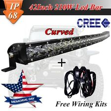 42INCH CURVED CREE LED WORK LIGHT BAR COMBO OFF ROAD 4WD TRUCK  210W SINGLE ROW