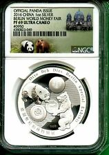 CHINA  2016  OFFICIAL PANDA ISSUE BERLIN WORLD MONEY FAIR NGC PF 69 ULTRA CAMEO