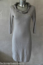 luxueuse dress robe pull angora et col fourrure ERMANNO SCERVINO taile 38