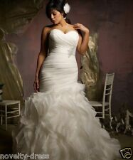 New White/ivory Wedding Dress Bridal Gown Custom Plus Size 14-16-18-20-22-24-26+