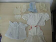 Vintage 1960's Lot of 8 Baby Doll Clothes  Mostly Fit larger Dolls LOVELY