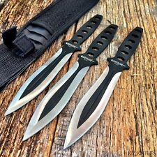 "3 Pc 8"" Tactical Combat Ninja Steel Throwing Knife Set w/Sheath 6778"