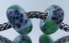 Authentic Trollbeads Pair of Retired Wisteria 61374 New Glass Charm Two Beads