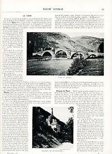 Tarn + Lot + Dordogne 1900 guide orig. 49 Photos Détroite Meyrueis Cahors Cère