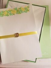 Vintage Hallmark Boxed Stationary Yellow Roses Set Complete/New Old Stock