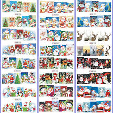 12 Sheets Christmas Nail Art Water Transfer Stickers Decal Full Nail Tip Snowman