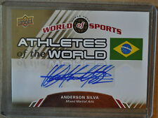 2010 Upper Deck World of Sports Anderson Silva autograph Athletes of the World