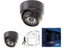 Dummy CCTV Dome Camera - Built in Security LED Light - Ceiling or Wall Mounted