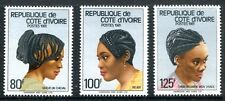 Ivory Coast 619-621 MNH Michel 714-716 Traditional Hairstyle 1981 x12112