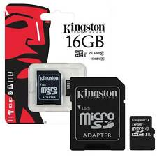 16GB KINGSTON MicroSD SDHC Memory Card 45MB/s UHS 1 Class 10 with Adapter - 16GB