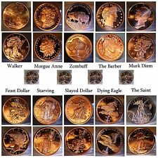 "*RARE* Complete set of ZOMBUCKS ""Before AND After"" Zombified Copper"