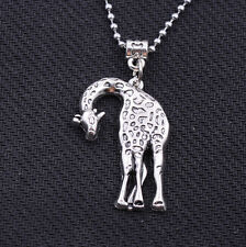 1pcs beautiful tibet silver lovely silver giraffe charms necklace 44x29mm #A6069